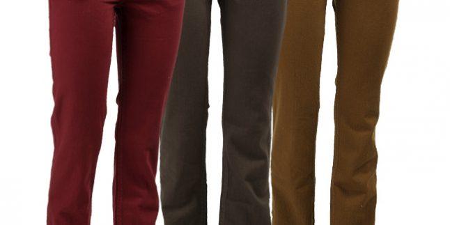 Bayan Renkli Pantolon Modelleri