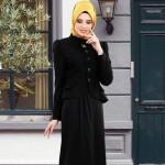 Ceketli Tesettür Elbise Modelleri