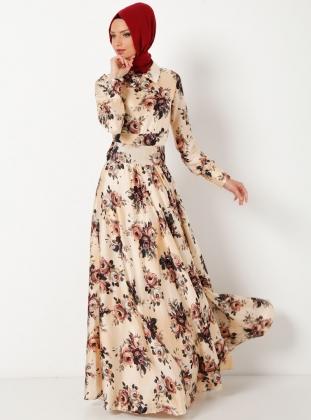 cicek-desenli-tesettur-elbise-modelleri-3