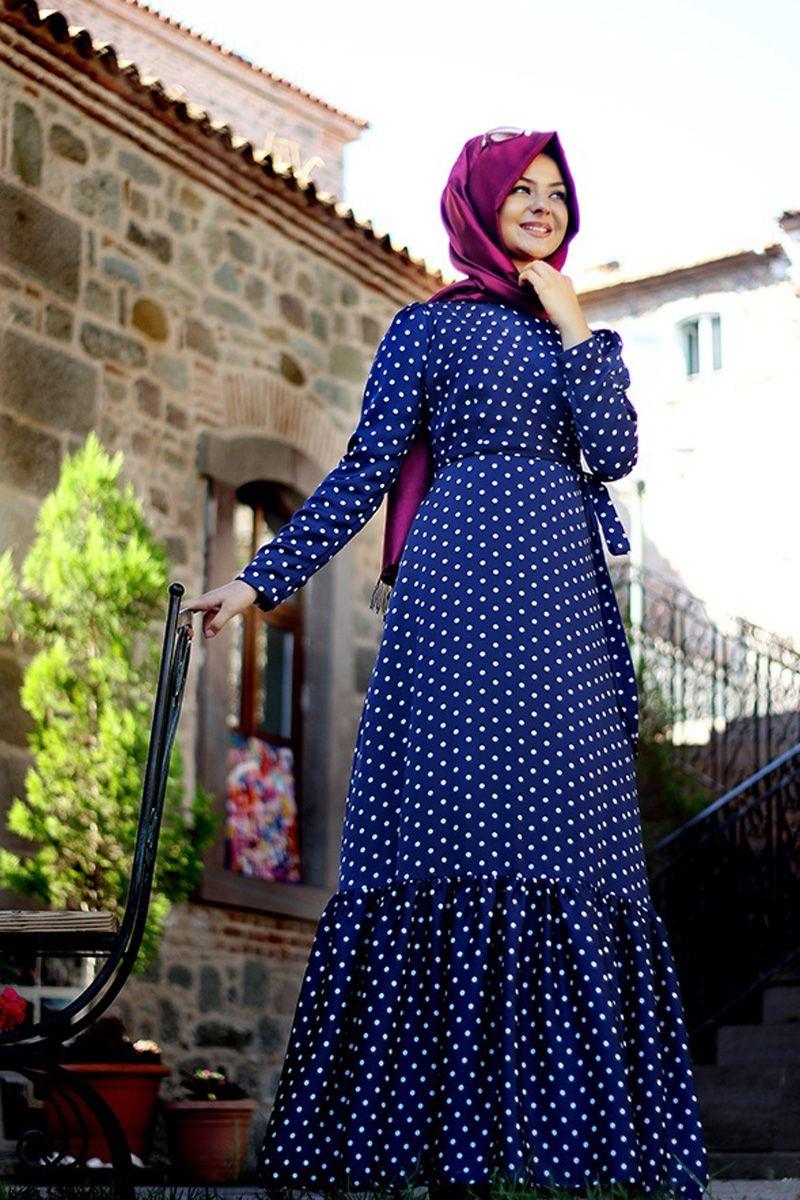tesettur-puantiyeli-elbise-modelleri
