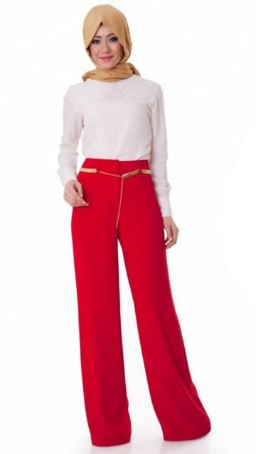 Çok Beğenilen Tesettür Pantolon Modelleri