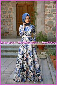 mevra elbise mavi 2016
