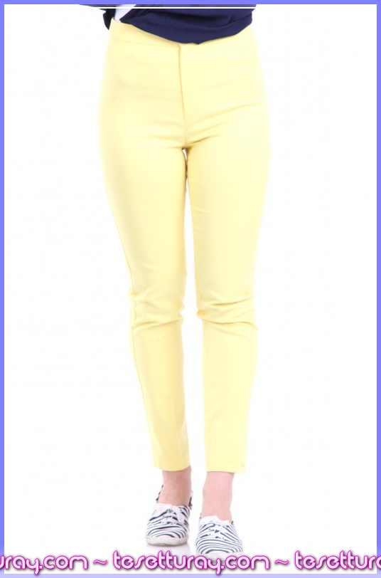touche-klasik-kesim-pantolon-6y1t076-sari-143074-31-O